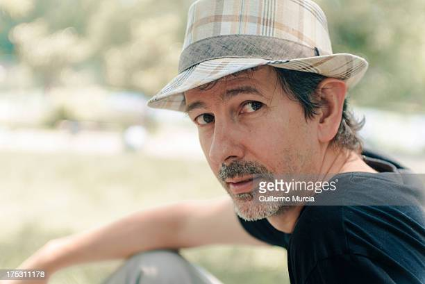 man with hat - goatee stock pictures, royalty-free photos & images