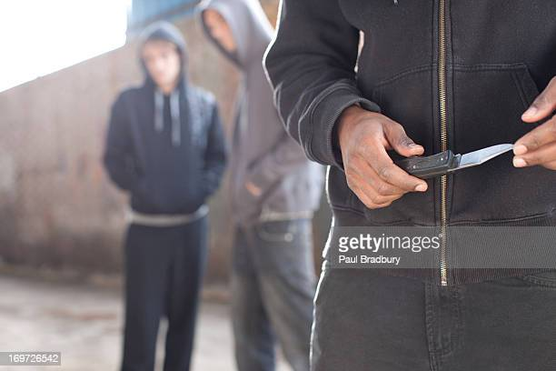 man with  knife - hooligan stock pictures, royalty-free photos & images