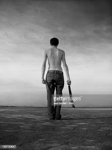 Man with machete in hand