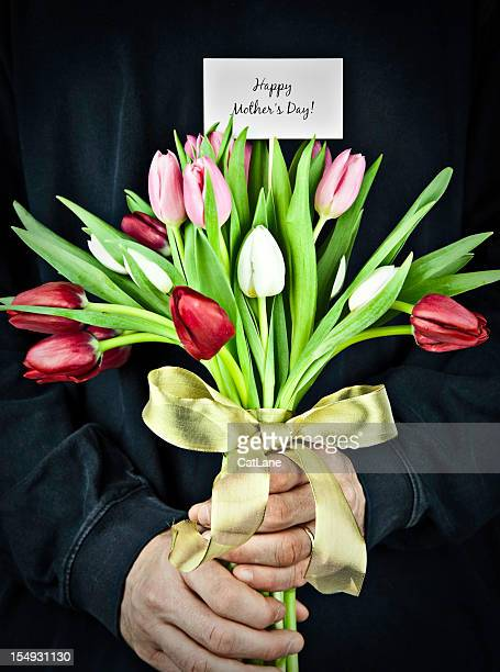 Man with Mother's Day Bouquet