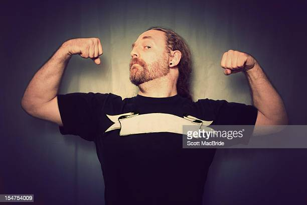 man with muscles - scott macbride stock pictures, royalty-free photos & images