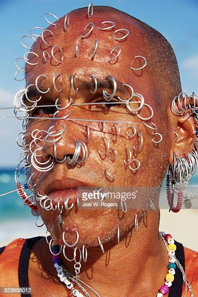 Man with Pierced Face