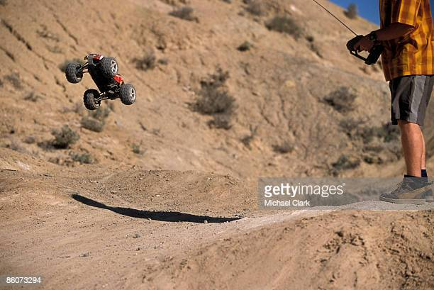 man with rc truck - rc car stock photos and pictures