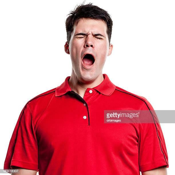 あくびをする男性 - 外れる ストックフォトと画像