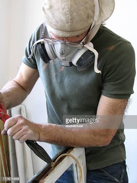Man with respirator