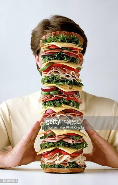 Man with sandwich