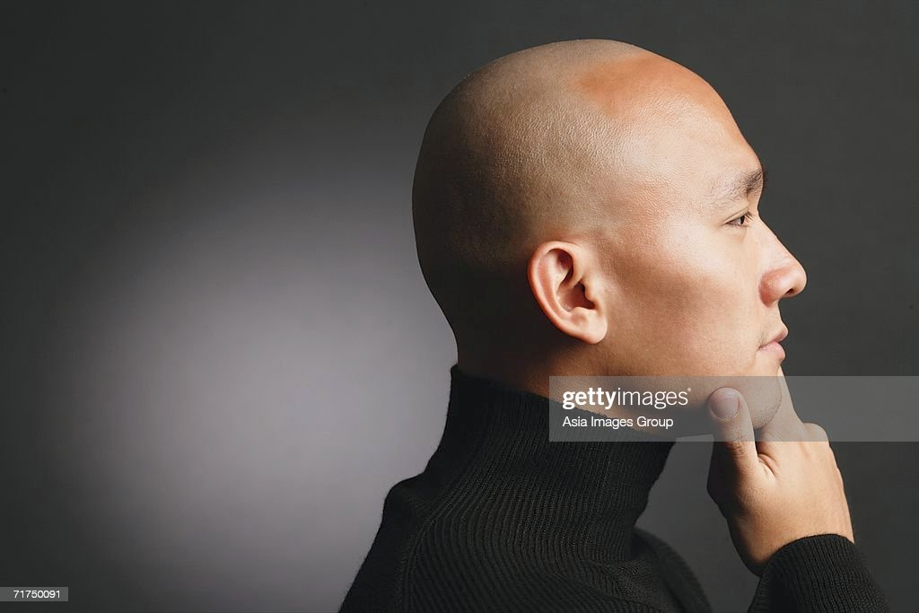Asian shaved head