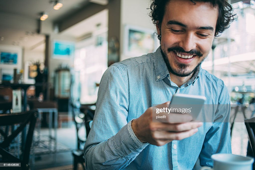 Man with smart phone : Stock Photo