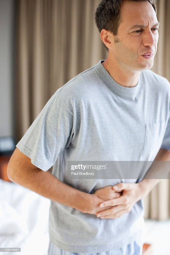 Man with stomachache : Stock Photo