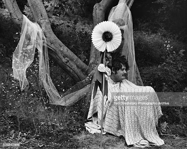 Man With Sunflower at Summer Solstice Festival 1967