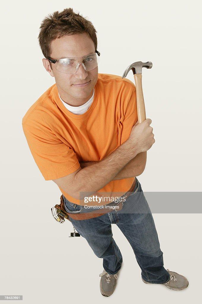 Man with tools : Stockfoto