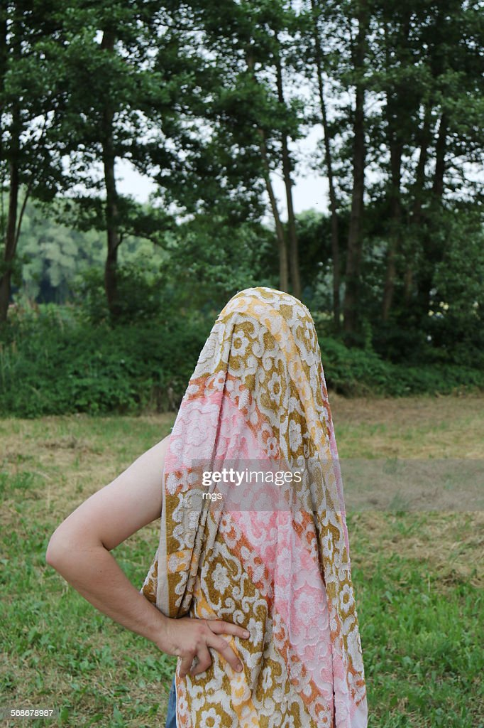Man with towel : Stock Photo