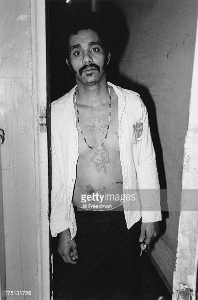 A man with two fresh knife wounds in his stomach in Alphabet City New York City 1978