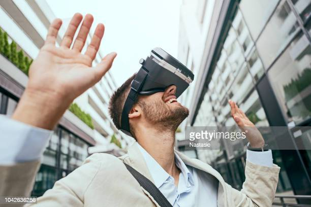 Man With Virtual Glasses