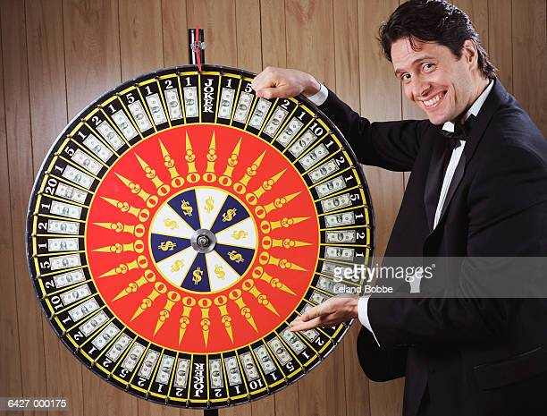 Man with Wheel of Fortune
