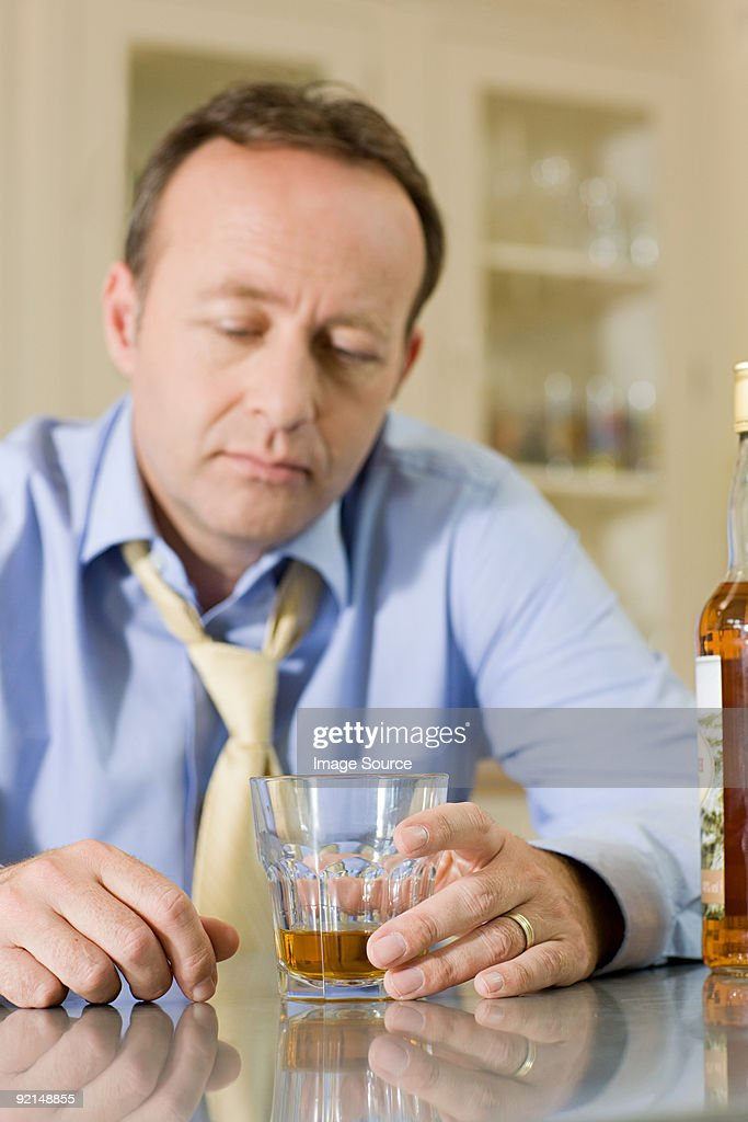 Man with whisky : Stock Photo
