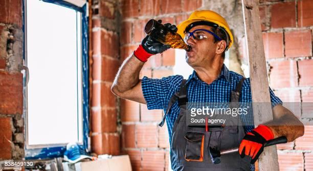 Man worker on break