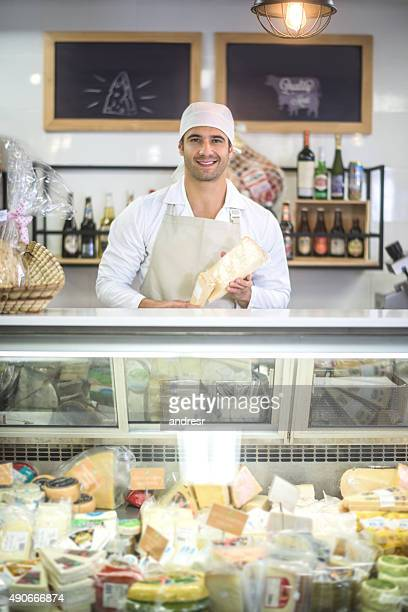 Man working at a deli
