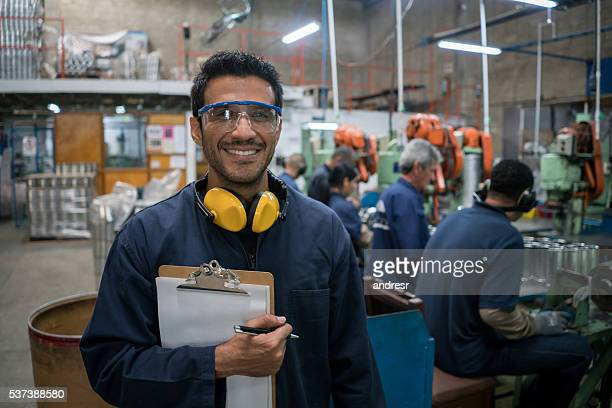 Man working at a metal factory