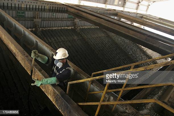 A man working at an industrial mining works in Antofagasta Chile April 2008