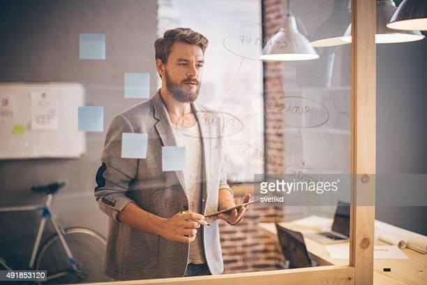 Man working at modern office.