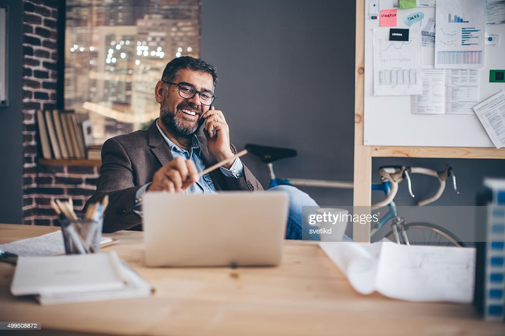 Man working at modern office. : Stock Photo