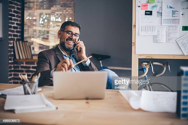 Man working at modern office.