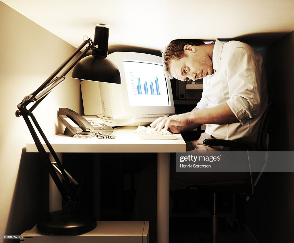 Very Small Office High Res Stock Photo