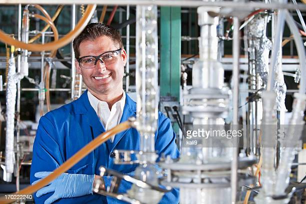 Man working in chemical plant