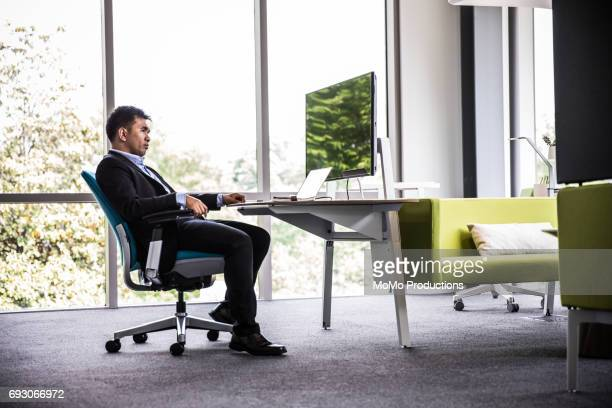 Man working in modern business office