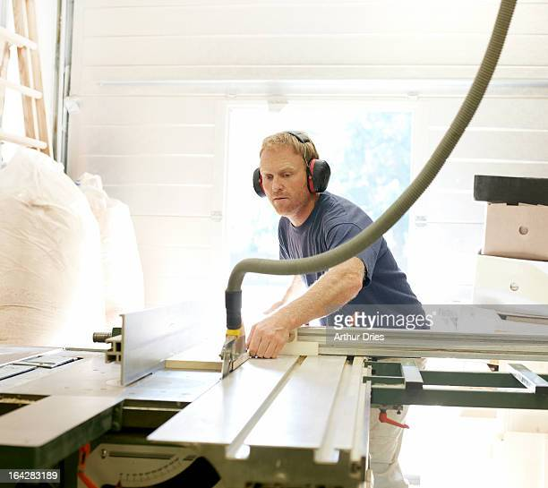 Man working in woodshop