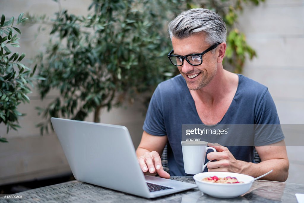 Man working on a laptop : Stock Photo