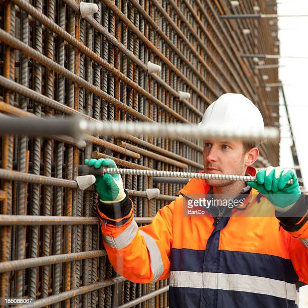 Man working on road construction