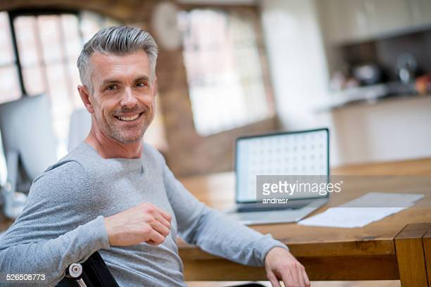 Man working online