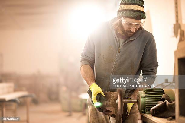 Man working with power tools