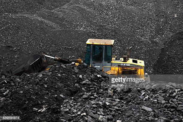 Man works in a coal mine in Huaibei, Anhui province, China on 7th April 2015.