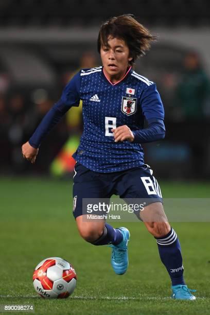 Mana Iwabuchi of Japan in action during the EAFF E1 Women's Football Championship between Japan and China at Fukuda Denshi Arena on December 11 2017...
