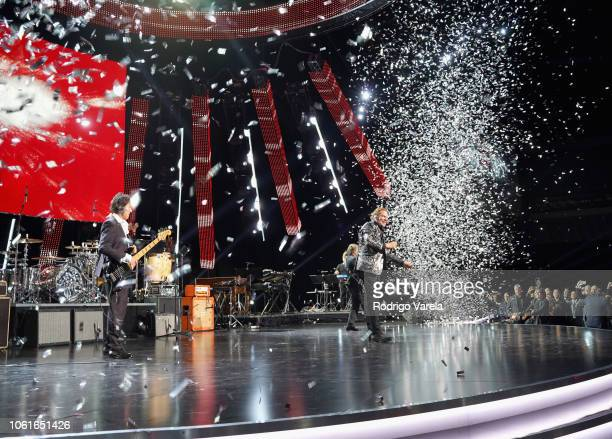 Mana performs onstage at the Person of the Year Gala honoring Mana during the 19th annual Latin GRAMMY Awards at the Mandalay Bay Events Center on...