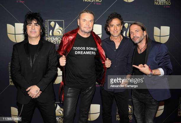 Mana poses in the press room at Univision's 31st Edition Of Premio Lo Nuestro A La Musica Latina at American Airlines Arena on February 21 2019 in...