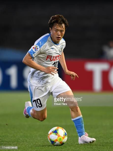 Manabu Saito of Kawasaki Frontale in action during the AFC Champions League Group H match Kawasaki Frontale and Ulsan Hyundai at Todoroki Stadium on...