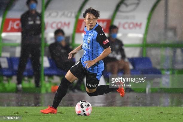 Manabu Saito of Kawasaki Frontale in action during the J.League Meiji Yasuda J1 match between Shonan Bellmare and Kawasaki Frontale at the Shonan BMW...