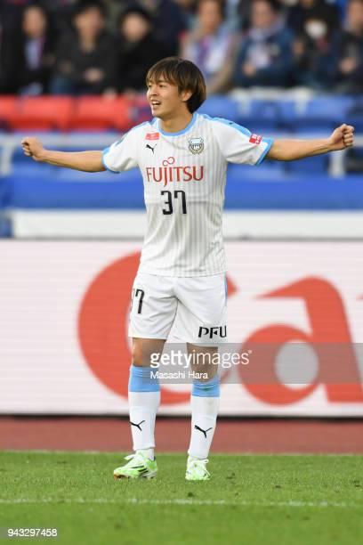 Manabu Saito of Kawasaki Frontale looks on during the J.League J1 match between Yokohama F.Marinos and Kawasaki Frontale at Nissan Stadium on April...