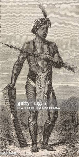 Manado native Celebes island today Sulawesi drawing by E Chabot from The Malay Archipelago 18611862 by Alfred Russell Wallace from Il Giro del mondo...