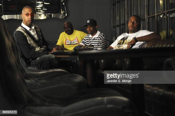 Management for rapper Drake Cortez Bryant Kyambo 'Hip Hop' Joshua Gee Robertson Al Branch pose for a portrait session at the Soho House in July 2009...