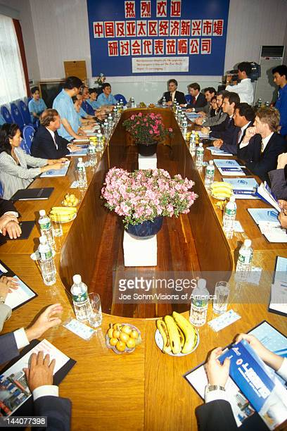 Management meeting at Shanghai Shangling Electric Appliances Company Ltd in Shanghai People's Republic of China