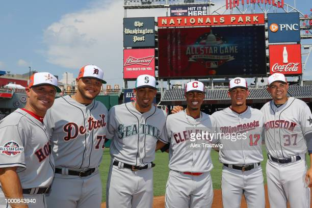 Manager AJ Hinch of the Houston Astros Joe Jimenez of the Detroit Tigers Edwin Diaz of the Seattle Mariners Fancisco Lindor of the Cleveland Indians...