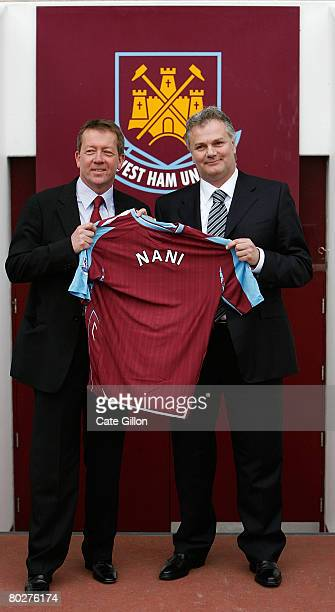 Manager Alan Curbishley and Gianluca Nani after Nani is announced as the new West Ham United Technical Director during a photocall at Upton Park on...