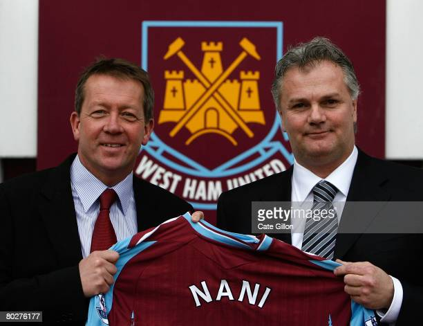 LONDON March 17 Manager Alan Curbishley and Gianluca Nani after Nani is announced as the new West Ham United Technical Director during a photocall at...