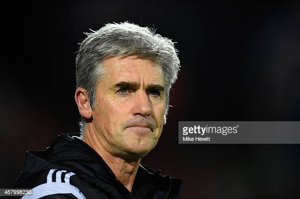 Manager Alan Irvine of West Brom looks on during the Capital One Cup Fourth Round match between Bournemouth and West Bromwich Albion at Goldsands...
