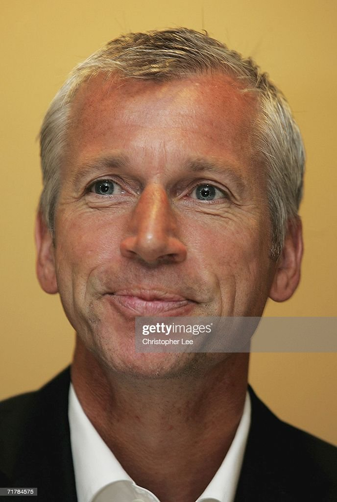Manager Alan Pardew talks to the press during the West Ham United press conference to unveil their new signings at Upton Park on September 5, 2006 in London, England.